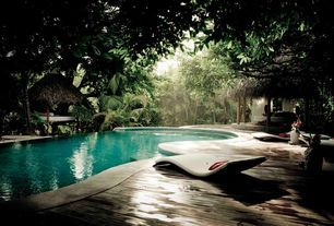 Contemporary Exterior of Home with Gazebo, Dcor Design Sydney Chaise Lounge, Modern lounge chair, Tropical plantings