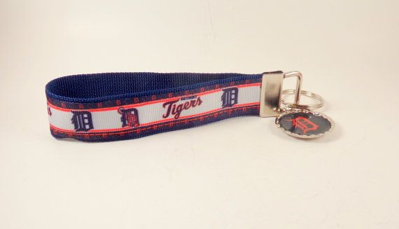 Baseball Lover Key Fob, Detroit Baseball, Unique Gift Ideas, Christmas Gift Ideas, Gifts for Dad by Zeke's Safari