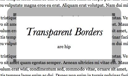 transparent borders in css3 tute