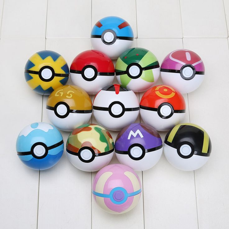 299pcs/lot Pikachu Ball Figures ABS PokeBall Toys 7CM Super Poke Ball Toys Pokeball Juguetes Gift For Kids