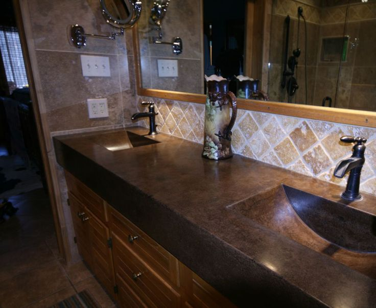 Double vanity - molded sinks Topaz Pinterest