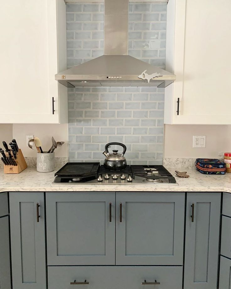 Nabi Arctic Blue 3x6 Ceramic Tile Wall Only In 2020 House Color Schemes Accent Wall In Kitchen Blue Subway Tile
