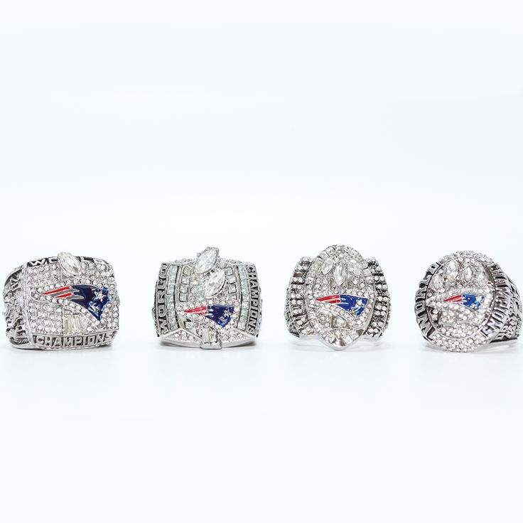 2001 2003 2004 2014 NEW ENGLAND PATRIOTS SUPER BOWL CHAMPIONSHIP RING, 4 PCS RING SET COLLECTION ALL SIZES AVAILABLE
