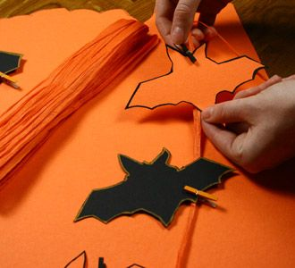 Halloween - Pipistrelli volanti - template stampabile