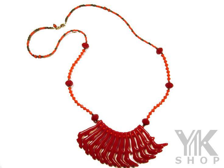 Hermoso collar Rojo-Naranja Envío gratis - Entrega Inmediata
