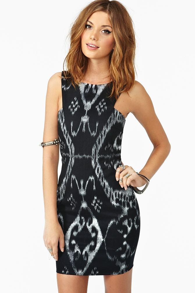 Loving Ikat! Mon Cherie Dress @ Nasty Gal