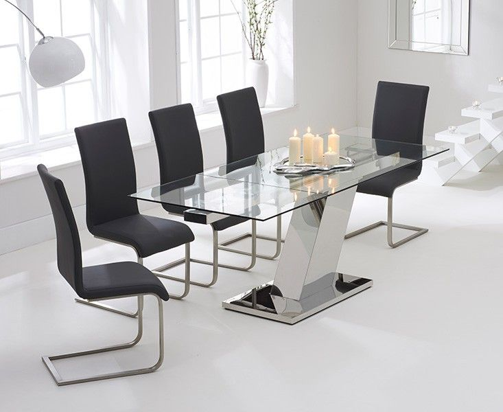 Shop The Luna Glass Extending Dining Table With Malaga Chairs At Oak Furniture Superstore Quick Delivery APR Available
