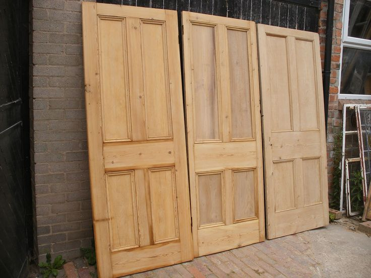 Reclaimed Victorian Stripped Pine 4 Panel Cupboard Or Thin Internal Doors