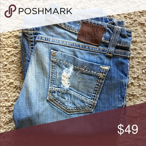 """BKE Sabrina distressed/faded flare leg Jean sz 26 BKE Sabrina distress/faded flare leg Jean in size 26 inseam 35"""" and rise 6 1/2"""". Leg width opening is 9 1/2"""". Gorgeous pair of jeans 👖! BKE Jeans Flare & Wide Leg"""