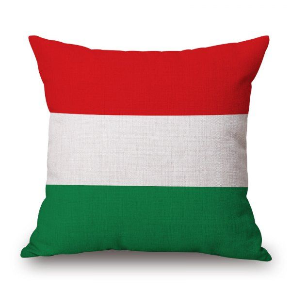 2016 Stylish European Cup Hungarian Flag Pattern Square Shape Flax Cushion Cover #CLICK! #clothing, #shoes, #jewelry, #women, #men, #hats, #watches