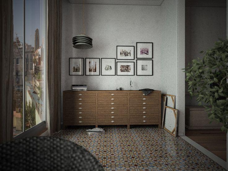 Imagen renderizada por Paco Ortega, con Intericad