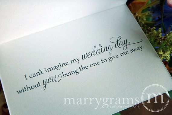 What Do You Give For Wedding Gifts: Wedding Card Asking To Give You Away...Way To Ask Someone