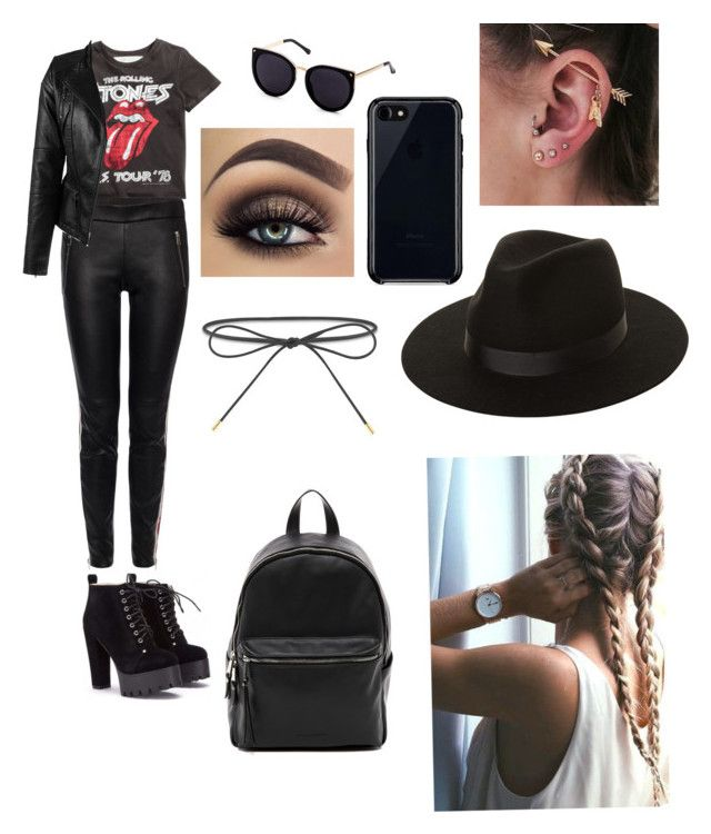 """""""To cool for school"""" by izzyvb on Polyvore featuring Alexander McQueen, Maria Tash, Lack of Color, Belkin, Elizabeth and James and French Connection"""