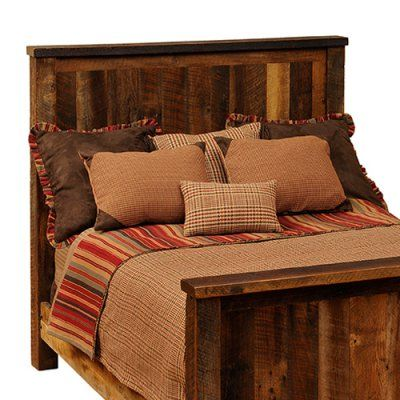 Fireside Lodge Barnwood Traditional Panel Bed, Size: California King - FIRE168-5