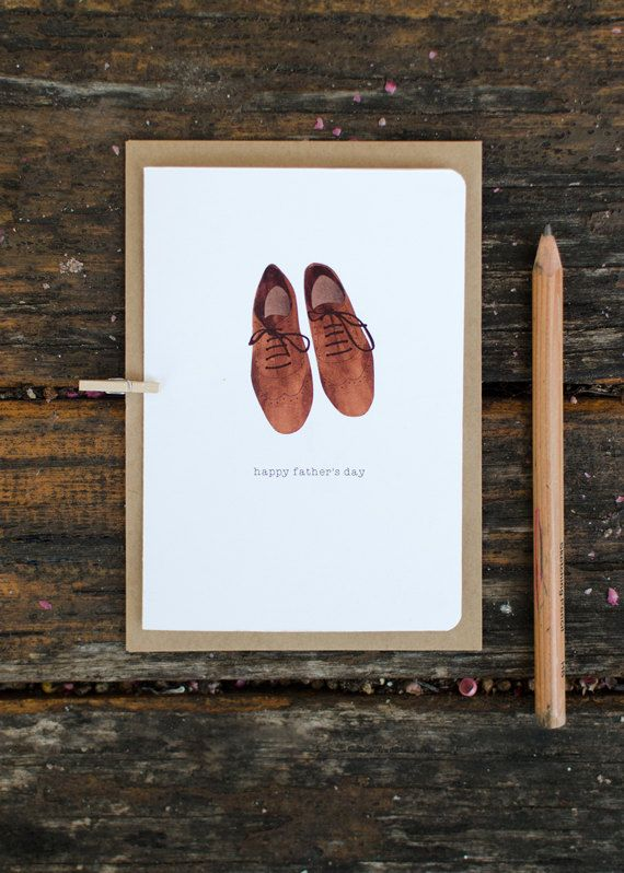 don't forget an original Father's Day Card Leather Shoes Design by LoveCarli on Etsy