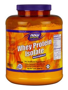 NOW- Whey Protein Isolate (Unflavored) 5 lbs