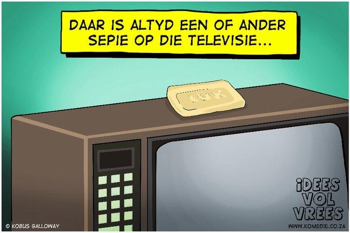 Seep op die televisie