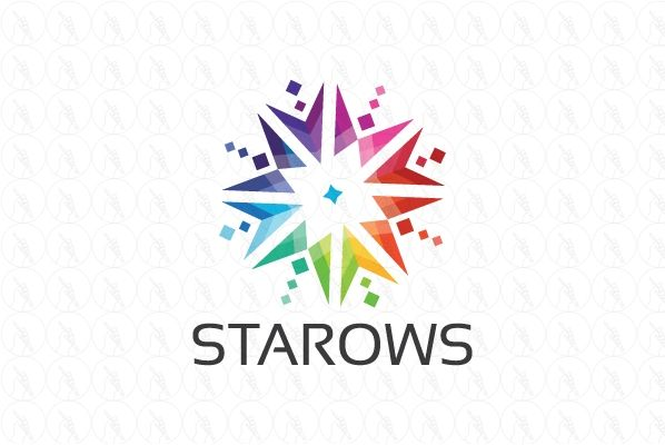 Colorful Star Arrows - $350 http://www.stronglogos.com/product/colorful-star-arrows #logo #design #sale #colorful #stars #arrows #technology #web #host #provider #IT #app