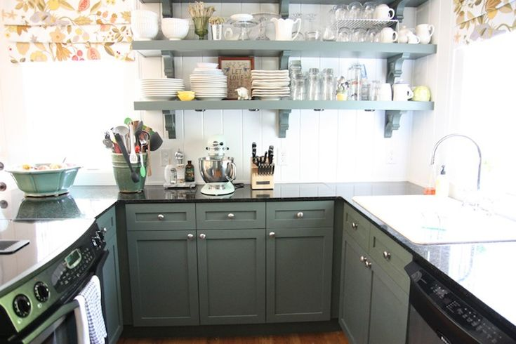 Go Green With Your Kitchen Cabinet Color Green Kitchen