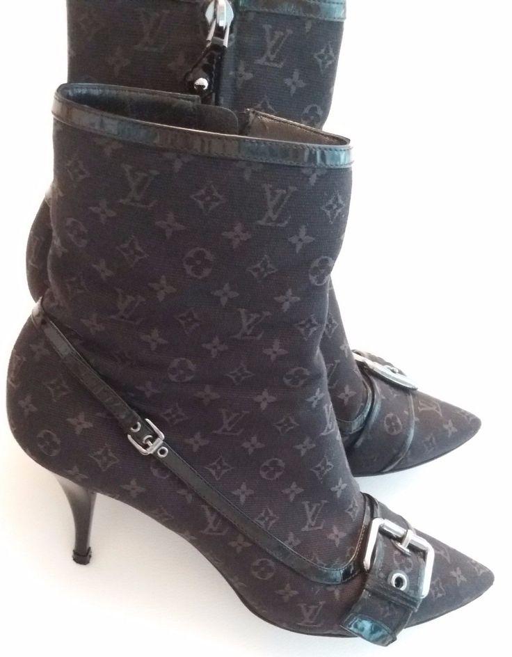 LOUIS VUITTON Stiefel, Stiefeletten, Boots Gr / Size 40.5 EU in Kleidung & Accessoires, Damenschuhe, Stiefel & Stiefeletten   eBay