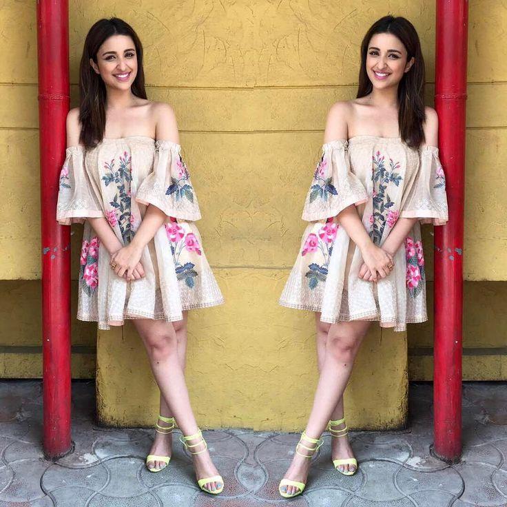 "100k Likes, 531 Comments - Parineeti Chopra (@parineetichopra) on Instagram: ""SUMMMERR!!!! Lovee this dress thanks @pankajandnidhi !! Thwaks @sanjanabatra @artinayar…"""