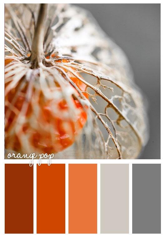 Une palette de couleurs automnales ! #automne #couleur #déco #orange #gris  http://www.m-habitat.fr/tendances-et-couleurs/couleurs-deco/une-deco-aux-couleurs-de-l-automne-3178_A
