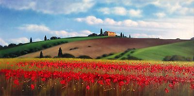 Big Italian Painting Tuscany Landscape Home Wall Decor Original Oil Canvas Italy