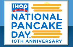 IHOP celebrates their 10th annual National Pancake Day on Tuesday, March 3, 2015, with free pancakes for every customer.