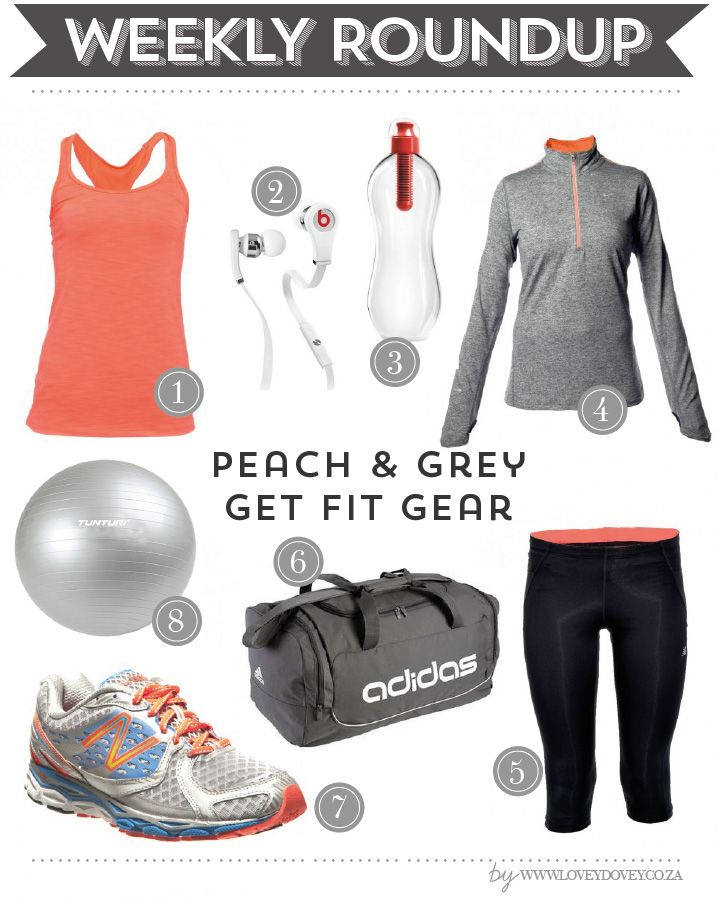 Peach and Grey Sporty Look