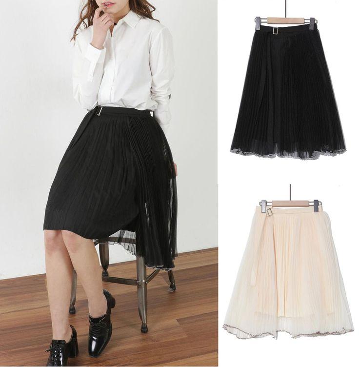 New Women Spring Casua Pleated Party Skirt Japanese/Korean Fashion #Unbranded #FlareSkirt
