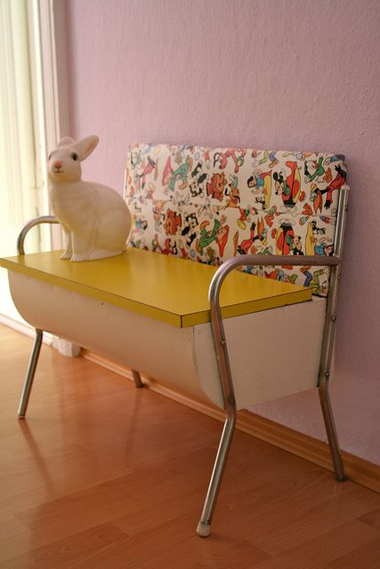 50s bench | Flickr - Photo Sharing! I wish I knew what this is called...I want one for my porch / kids outdoor play kitchen
