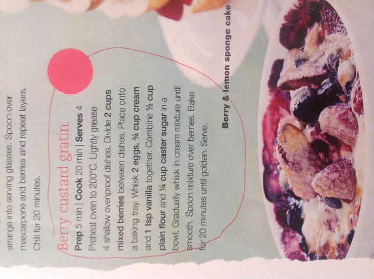 Berry custard gratin