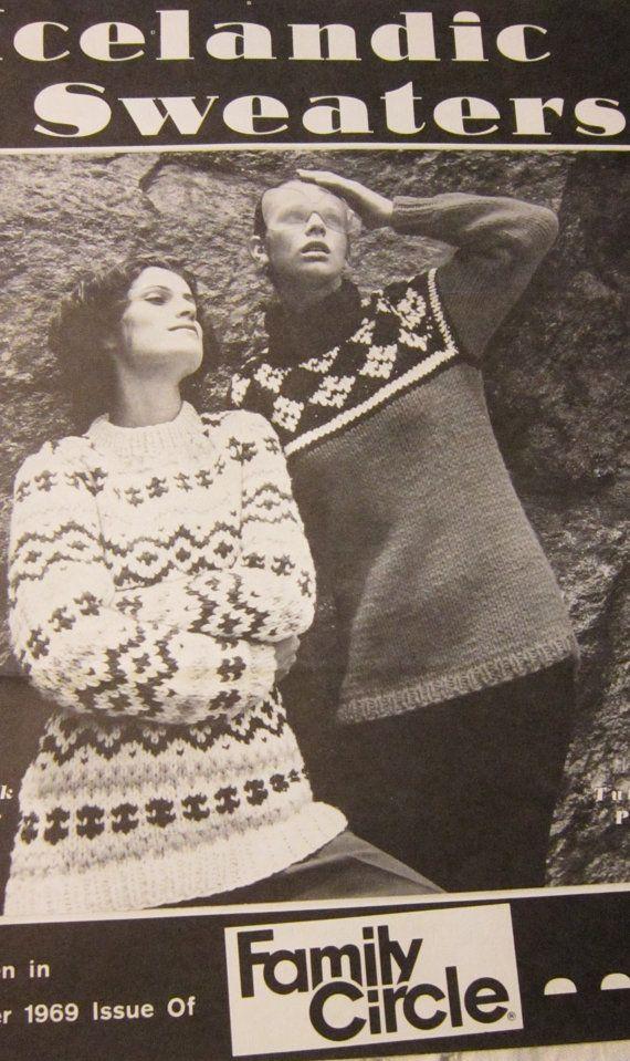 Vintage 1960's Icelandic Sweater Patterns by primrosehillhandknit, $3.00