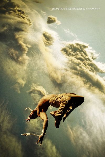 ♂ Dream Imagination Surrealism Surreal Photography man floating in the cloudy air