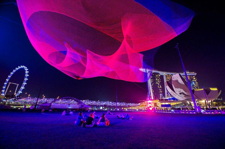 Janet Echelman builds living, breathing sculpture environments that respond to the forces of nature — wind, water and light — and become inviting focal points for civic life. (via)