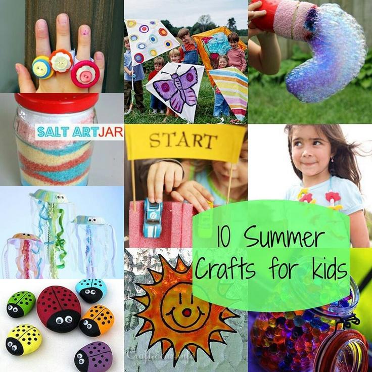 10 summer crafts for kids benny bear pinterest for F crafts for toddlers