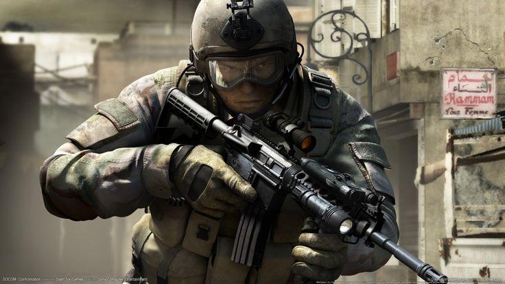 socom confrontation game hd wallpaper