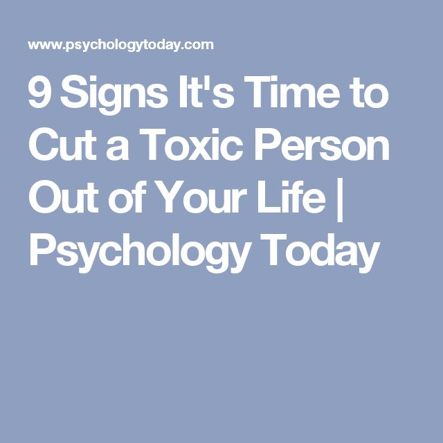 how to cut a toxic person from.your life
