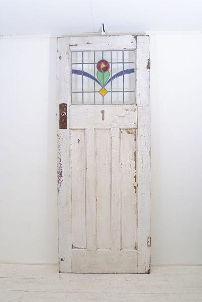 Stained Glass 【英国】【パイン材ステンドグラスアンティークドア】(74) インテリア 雑貨 家具 Antique ¥78000yen 〆07月13日