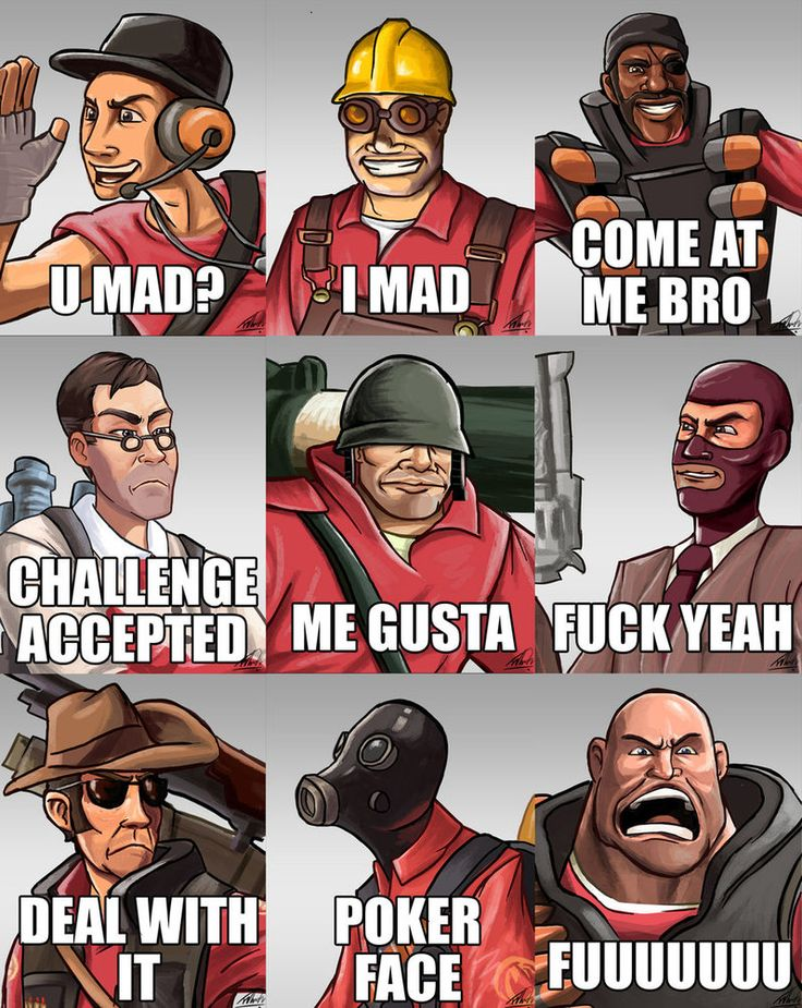 Team Fortress 2 Meme sprays by Aktheneroth Youtubers and