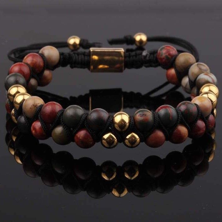 PRE-ORDER : Picasso Double Beaded Bracelet 6mm