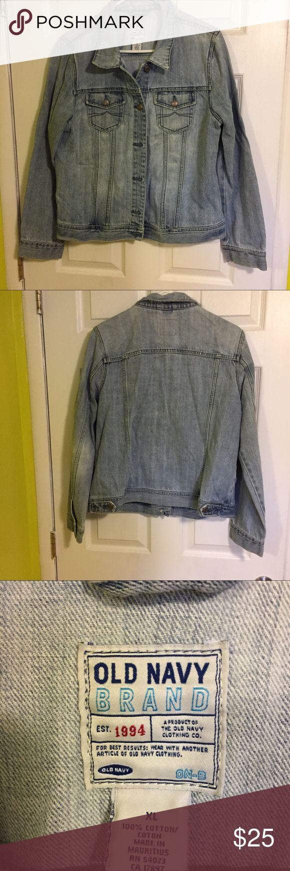Old Navy jean jacket Like new Old Navy jean jacket. Lighter denim color. Smoke free home. Old Navy Jackets & Coats Jean Jackets