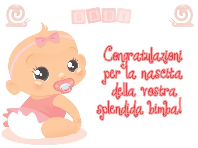 Auguri per la nascita di una bimba...