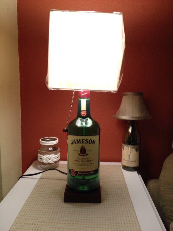 Large Jameson Liquor Bottle Lamp on Etsy, $90.00
