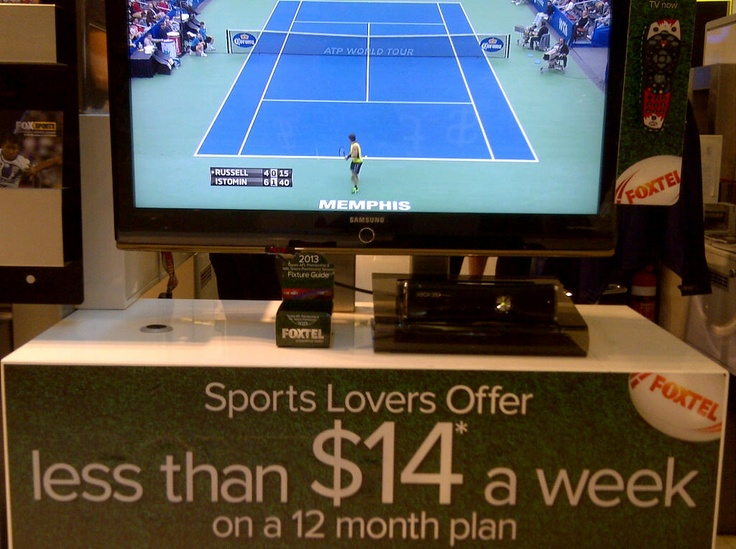Foxtel Kiosk with Footy Fixture Z-CARDs