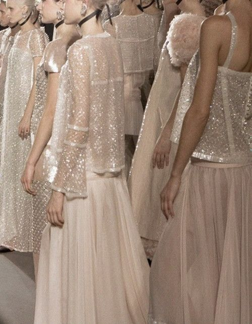 Sheer & Shimmery fashion at a Chanel haute couture catwalk show