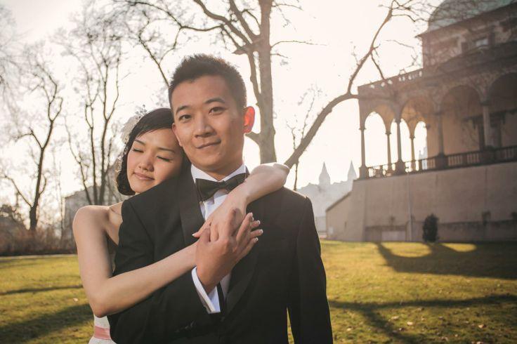 Suki & Steven's beautiful pre wedding portraits in Prague by American Photographer Kurt Vinion