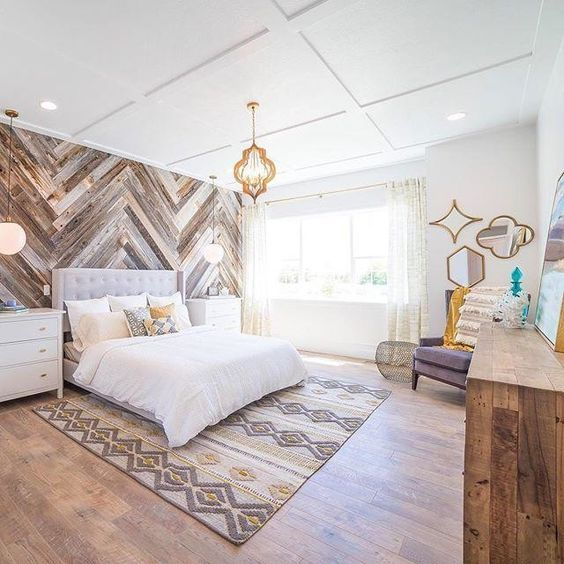 LOVE That Accent Wall! The Master Bedroom Of Our Legend Creek Home! For  Details On The Master Suiteu2026
