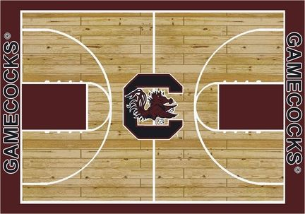South Carolina Gamecocks 7ft 8in x 10ft 9in Home Court Area Rug (also smaller)