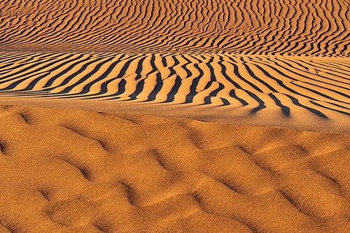 Sand ripples near Pica, Chile